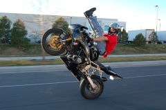 Motorcycle-wheelie